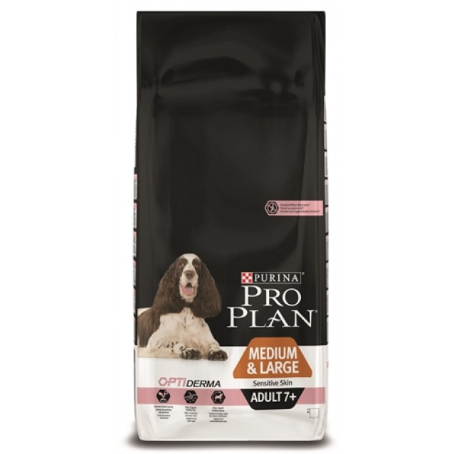 Pro plan dog adult medium / large 7+ sensitive skin