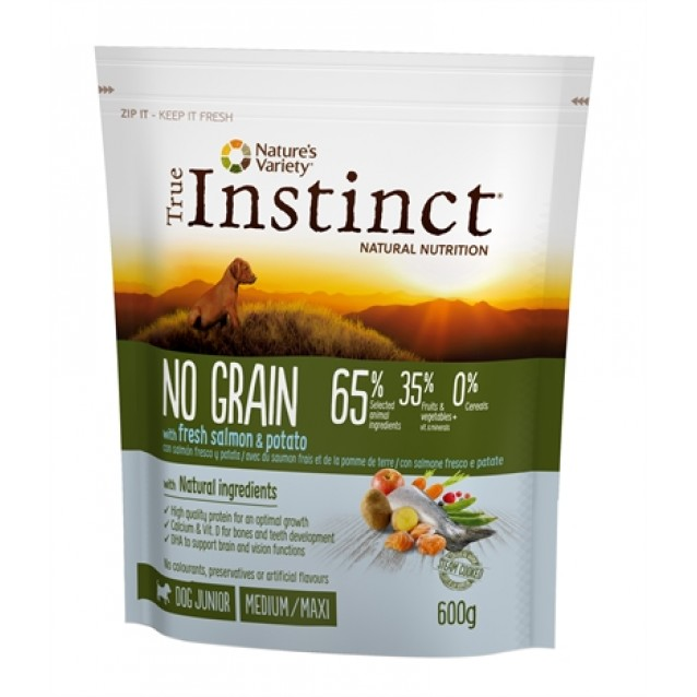 True instinct no grain medium junior salmon