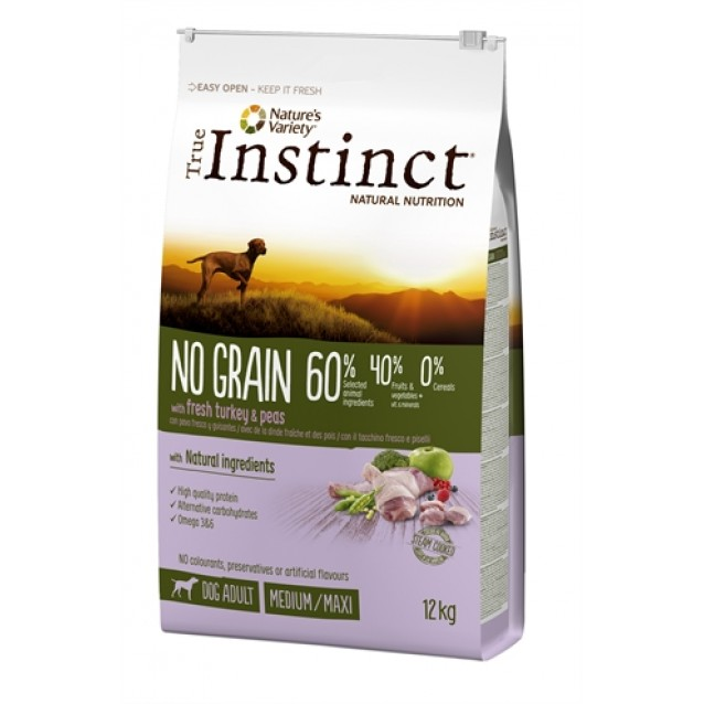 True instinct no grain medium adult turkey