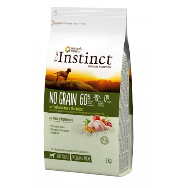 True instinct no grain medium adult chicken