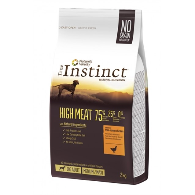True instinct high meat medium adult chicken