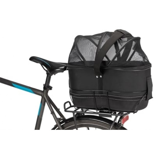 Trixie fietsmand bagage drager smal zwart