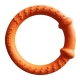Happy pet tough toys hoop tugger oranje