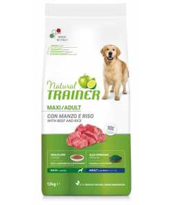 Natural trainer dog adult maxi beef / rice