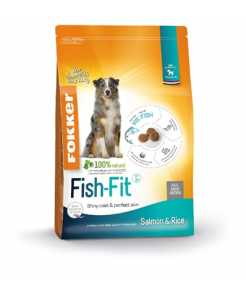 Fokker fish-fit salmon and rice